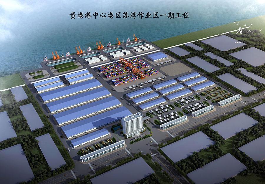 广西天正钢构承建贵港港中心项目首梁成功吊装