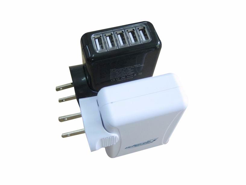 5个USB充电器