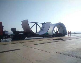 大件运输中钢构件的装车和卸货