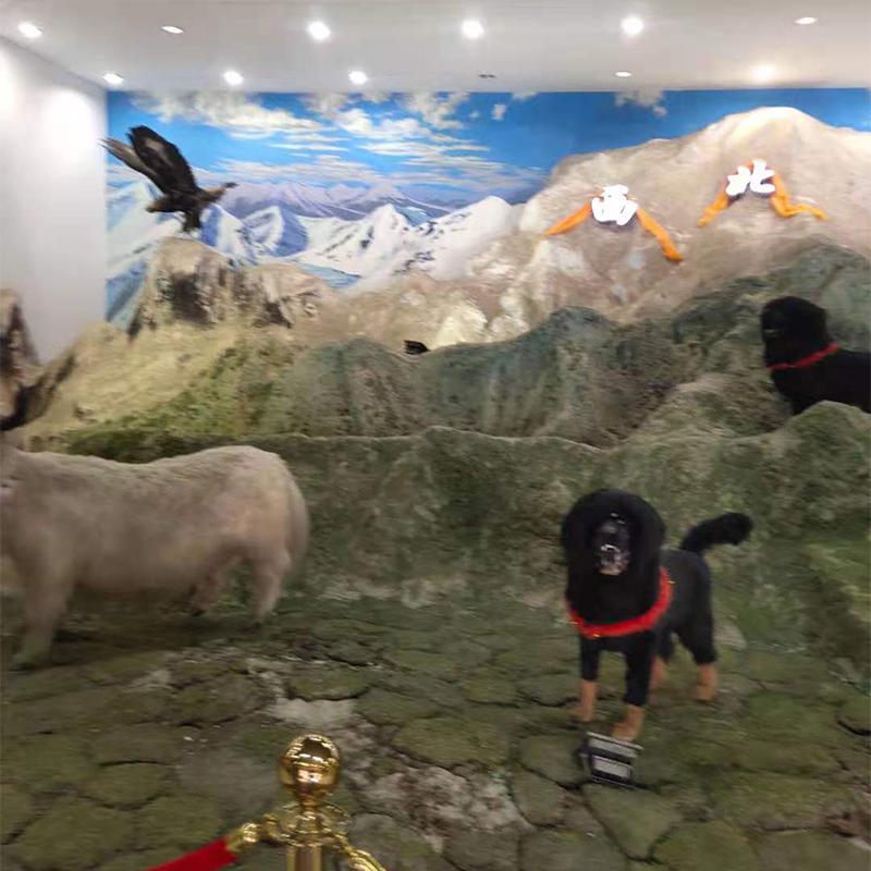 西宁西北骄集团展厅动物造型雕塑