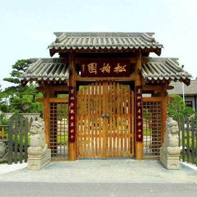 防腐木门楼