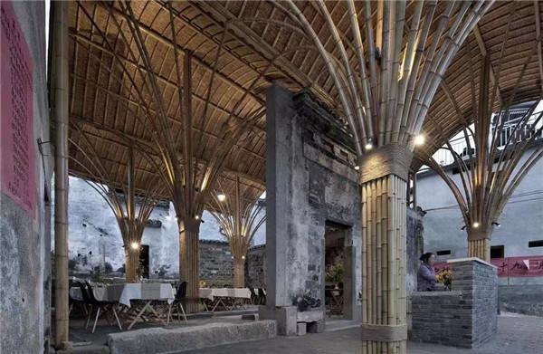 异形竹长廊