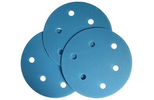 5寸6孔蓝色背绒圆盘-氧化铝-400#