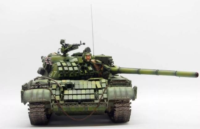 三花 T-55 AMV 中型坦克 | 模型作品