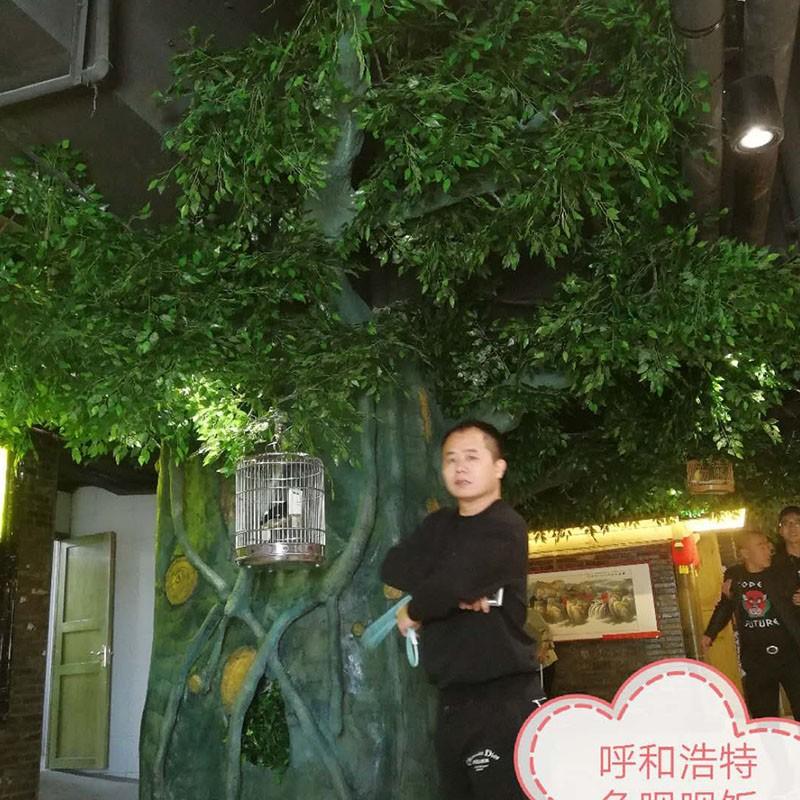 呼市车站东街鱼呗呗饭店塑树