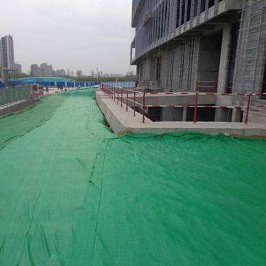 建筑工地覆盖抑尘土工布施工案例
