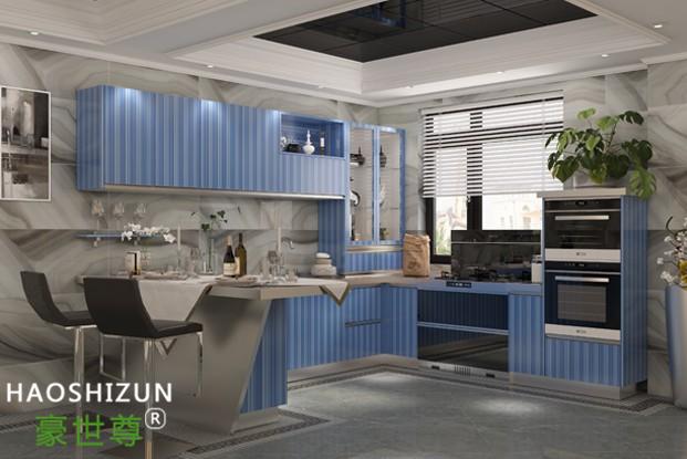 现代不锈钢整体厨房
