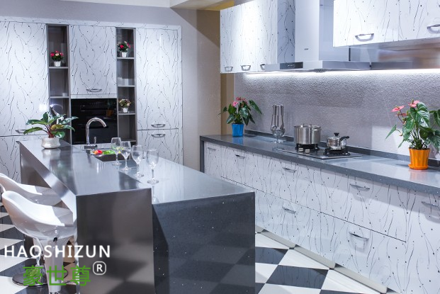 简欧不锈钢整体厨房