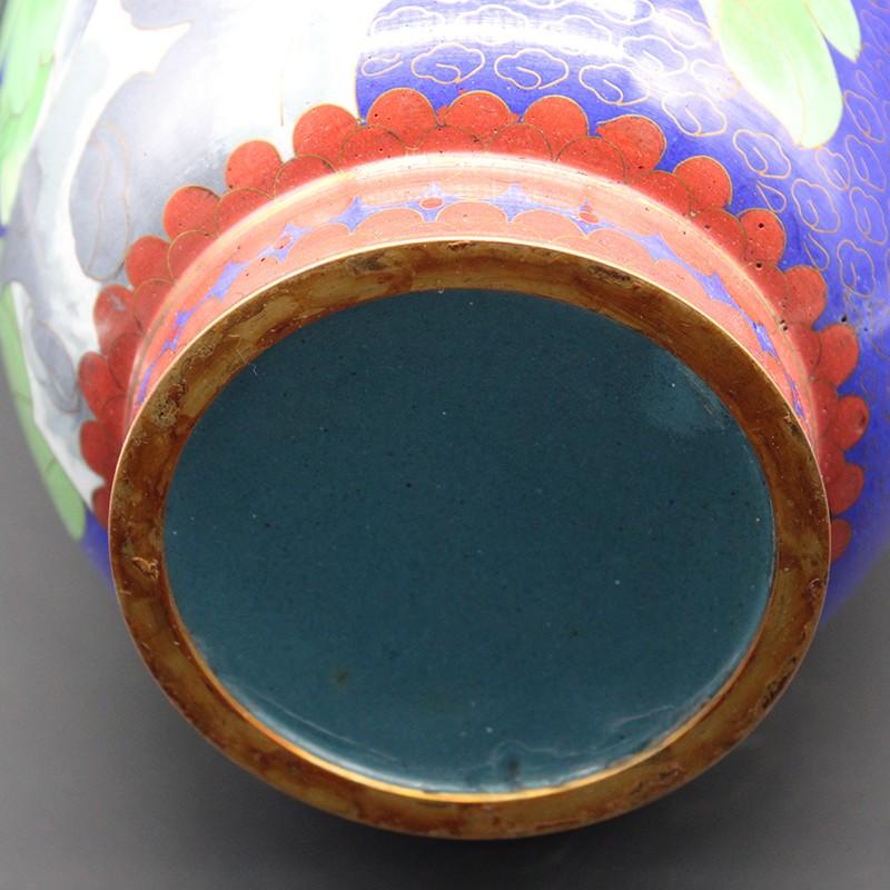 牡丹纹景泰蓝赏瓶