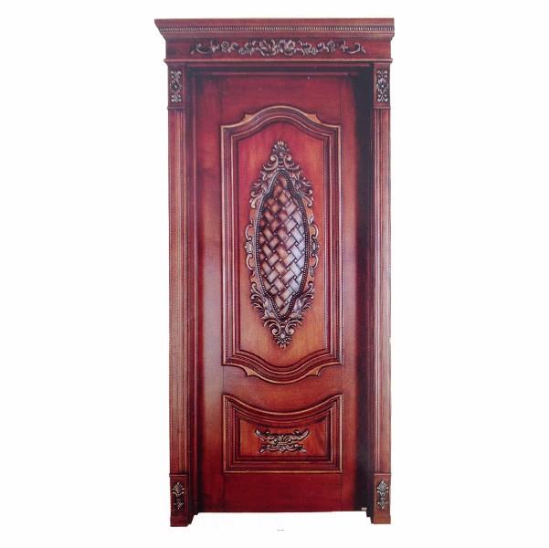欧式复古方格实木门