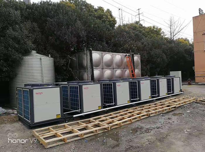 泰州皇仕堡运动城店空气能热水器工程案例