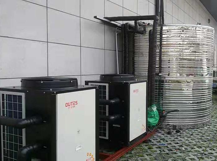 姜堰亲亲母婴会所空气能热水器安装工程案例