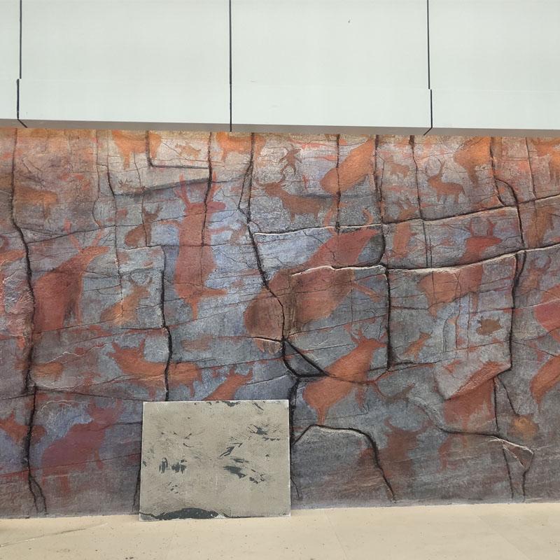西宁博物馆仿石岩画浮雕
