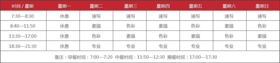郑州画室课程设置