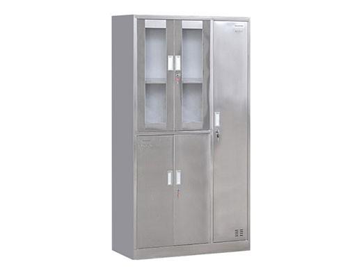 不锈钢五门更衣柜