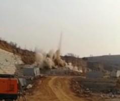 浆水火车站爆破施工现场