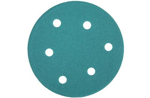 5寸6孔绿色背绒圆盘-氧化铝-120#