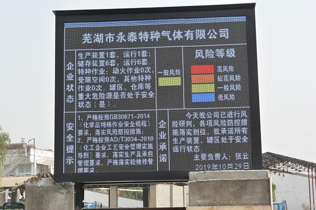 厂房安全电子公示牌