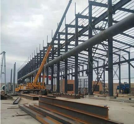 西宁钢结构厂房施工案例