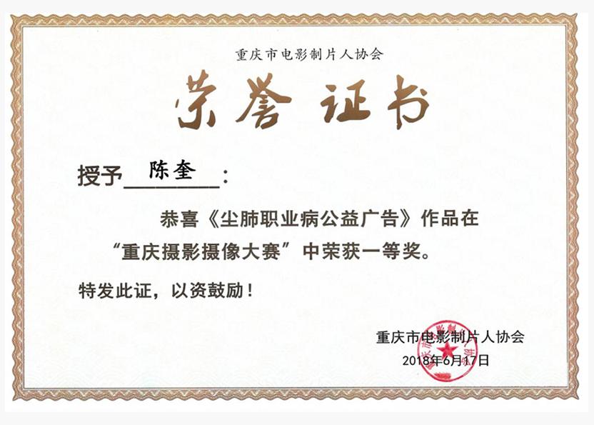 """""""重庆摄像摄影大赛""""一等奖"""