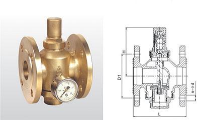 埃美柯减压阀-Y43X-16T 黄铜活塞式可调减压阀