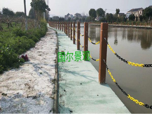 仿木护栏安装施工准备事项