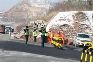 2018年青海高管局冰雪灾害应急保通演练