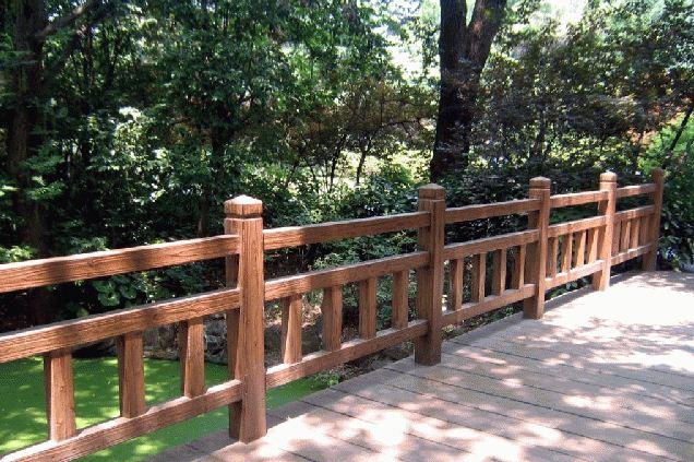 仿木护栏起到的隔离作用