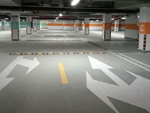 六安地下车库停车位划线