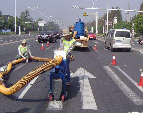 道路标线清除