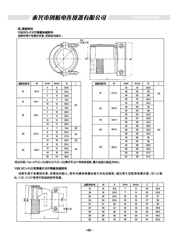 XCA(Y55A)焊接式系列特种军用圆形航空插头、电连接器、接插件
