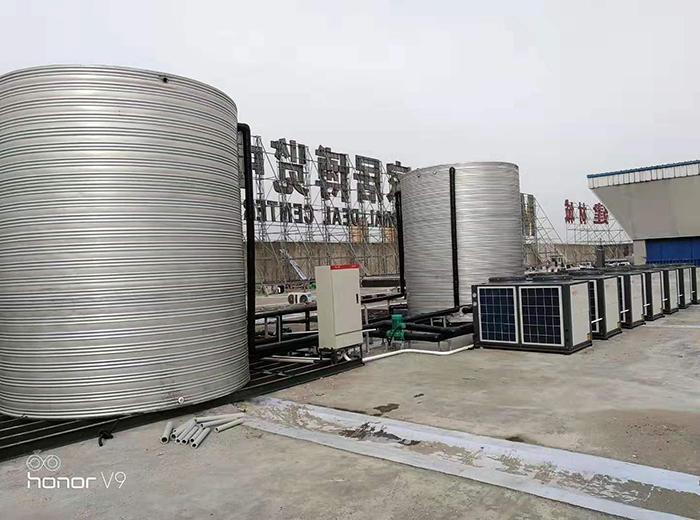 泰州皇仕堡名流店空气能热水器系统