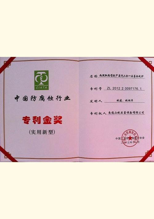 Patent Gold Award (2013)