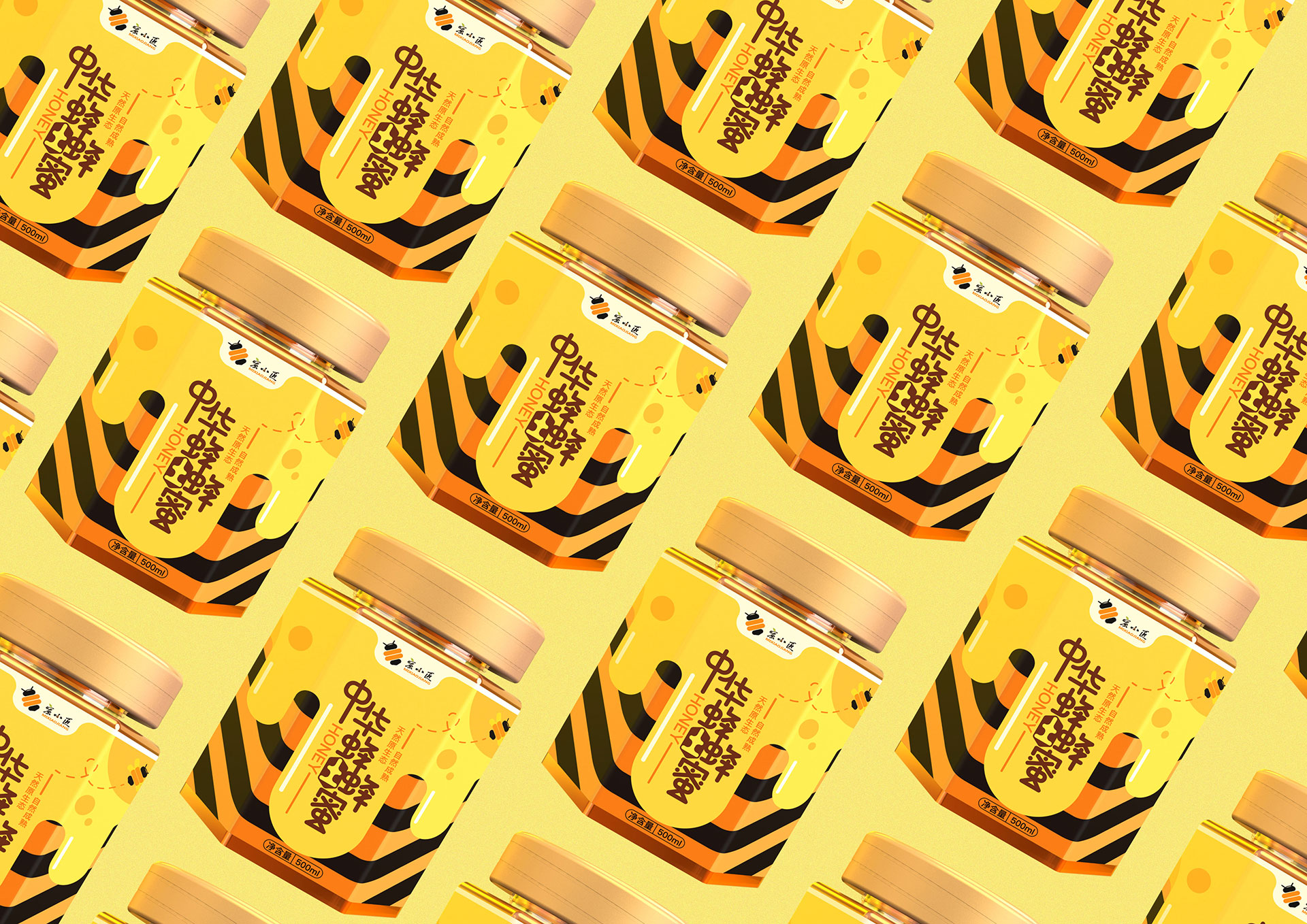 蜜小匠蜂蜜包装设计