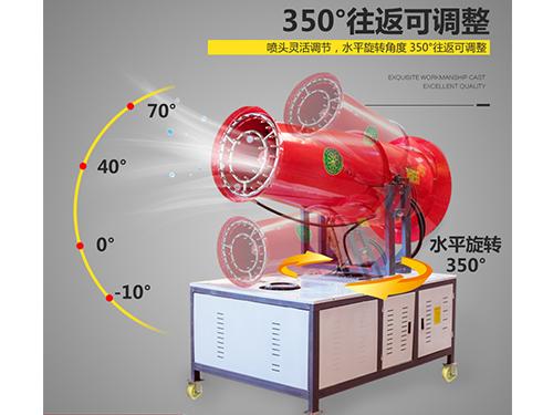 创新风送式雾炮机耗水量低抑制粉尘有新招